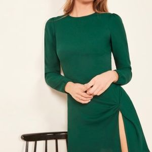 Cara Dress - Reformation - Green S4